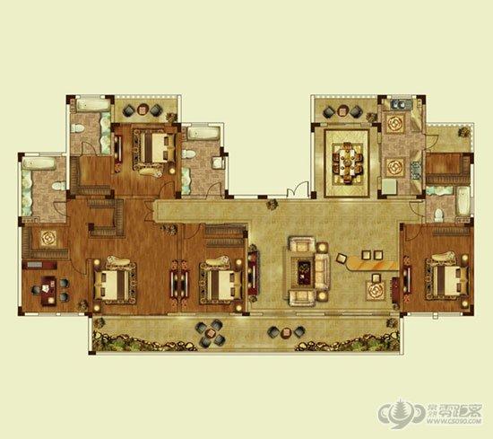 v别墅别墅方位c户型图摆放佛龛里的户型别墅图片