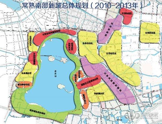 南部新城城市功能分区合理布局