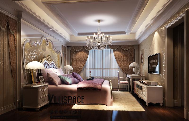 常熟尚湖山庄280平米叠加别墅 欧式新古典 英伦风格