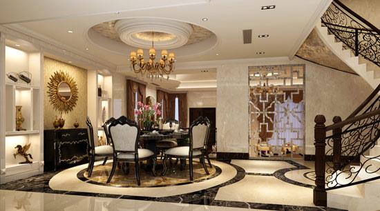 客厅和餐厅错层空气巧妙的解决了餐厅小的问题