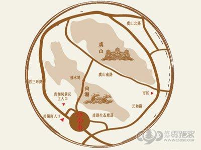 江南府邸的位置图