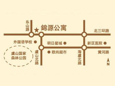 锦源公寓(爱乐国际公寓)的位置图