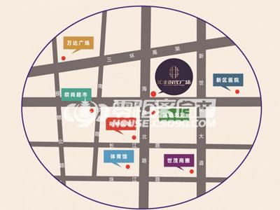 汇丰时代广场的位置图