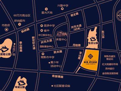 新城虞悦豪庭的位置图