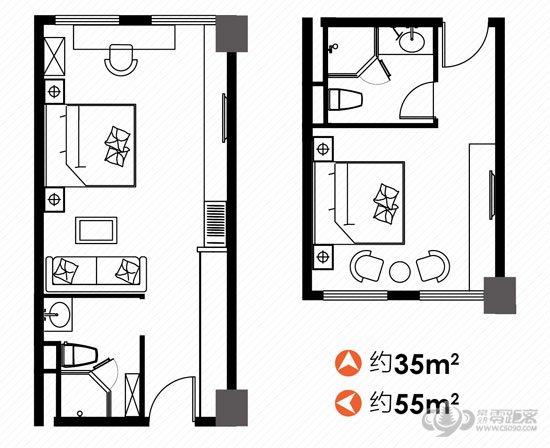 b楼酒店式公寓户型图