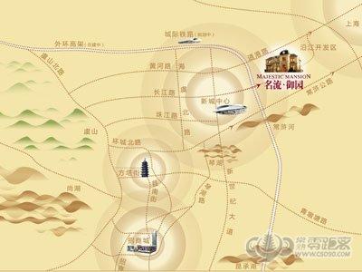 名流御园的位置图