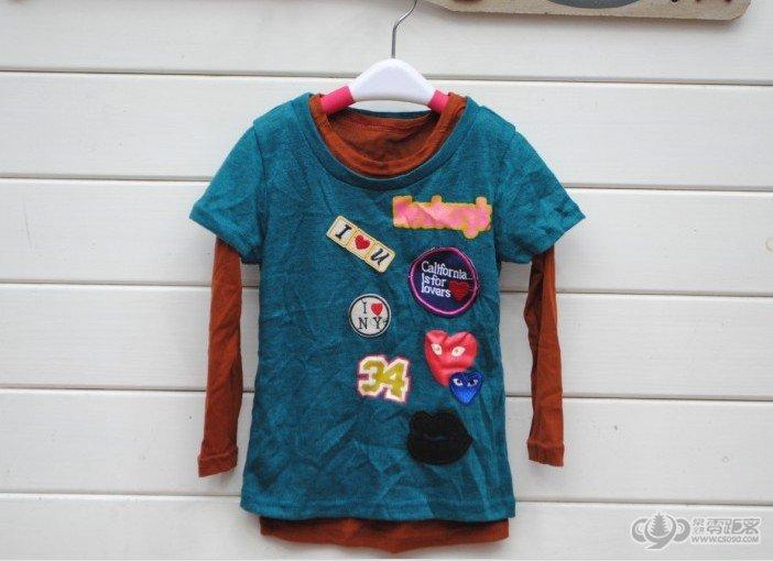 12秋款韩版儿童衣服男童装女童装可爱帅气两件套长袖