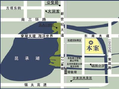 东湖京华的位置图