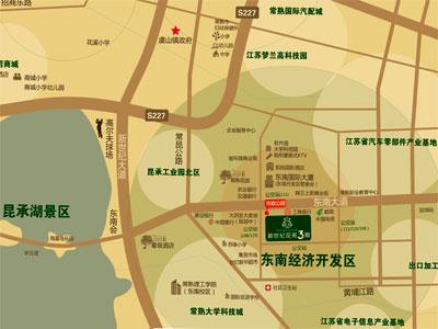 新世纪花苑3期的位置图