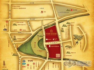 中南世纪城的位置图
