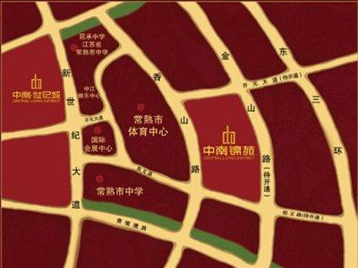 常熟中南锦苑的位置图