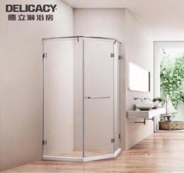 德立 不锈钢钻石型淋浴房