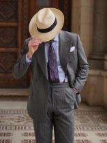 经典竖条纹绅士穿搭