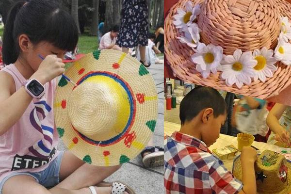 炫彩草帽DIY走起 来伟才国际幼儿园过个难忘的父亲节