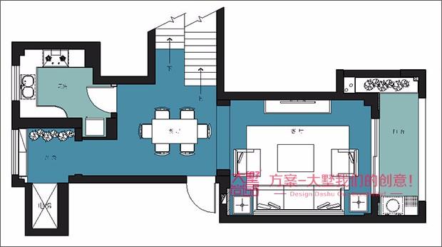 欧式住房平面图