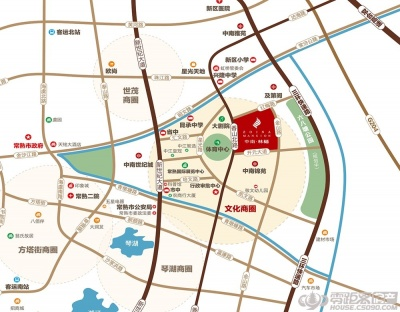林樾香庭的位置图