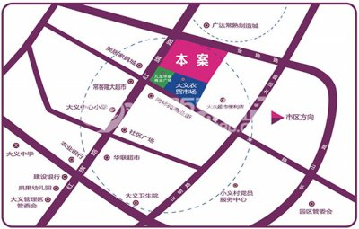大义新天地生活广场的位置图