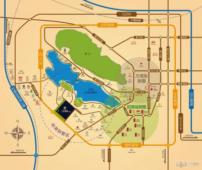 尚湖玫瑰园3期的位置图