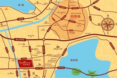 嘉湖景园的位置图