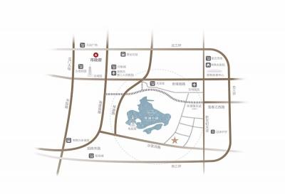 琴鳴雅院(琴湖小鎮)的位置圖