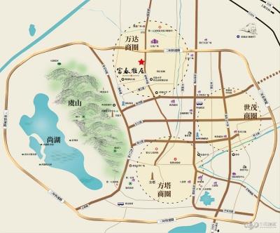 富春雅居的位置图
