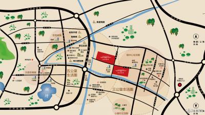 东宸铭筑(南区)的位置图