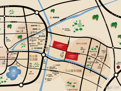东宸铭筑(北区)的位置图