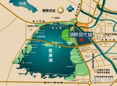 湖畔現代城三期的位置圖