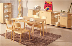 曲美家具家居现代轻北欧一桌四椅餐厅成套家具餐桌实木弯曲椅子