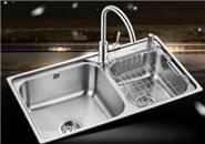 欧琳304不锈钢厨房洗菜盆双槽