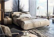 皇朝家私 卧室皮艺双人床
