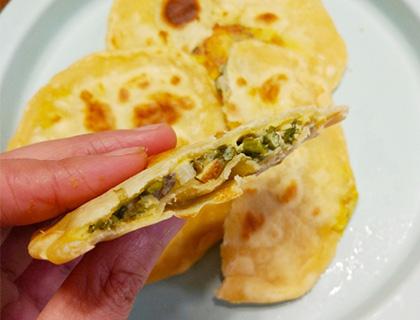 一餡兩吃之雞蛋灌餅+面條餅