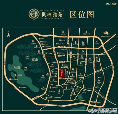 枫林雅苑的位置图