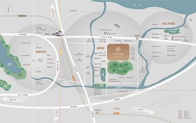 悅江南花園的位置圖