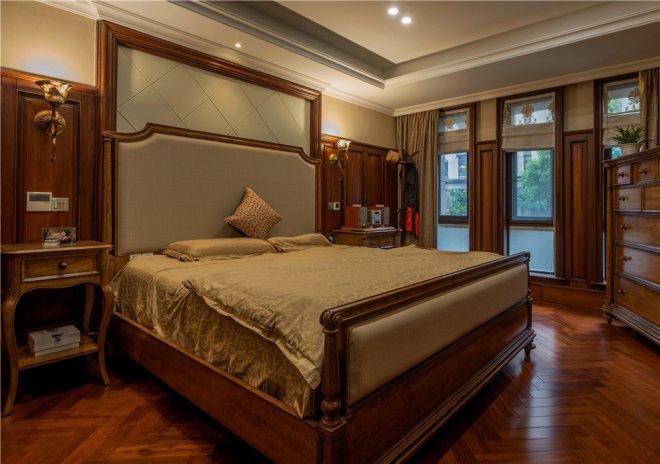 实木定制床头背景图