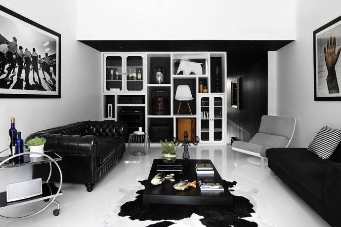 黑白墙绘素材文艺