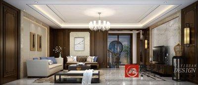 泽景园260平中式风格别墅改造