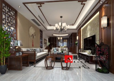 万达广场120平中式风格公寓