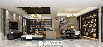 尚湖山庄400平新中式风格