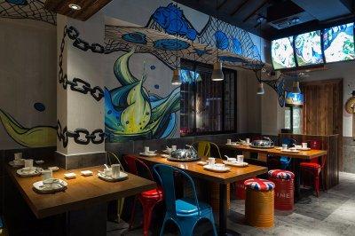 『邂逅花甲』66㎡海鲜小吃餐厅