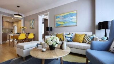《卓玛装饰》爱简约 享温馨~多彩简约灰度搭配亮黄色家居设计